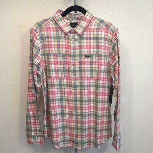 NWT Men's RVCA Flannel Button Up